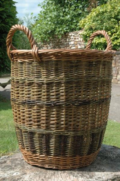 artisan log baskets made in devon your local logs. Black Bedroom Furniture Sets. Home Design Ideas